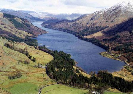 Thirlmere seen from the Steel Fell at the southern end of the lake. Photo taken by Mick Knapton on 6 August 2006