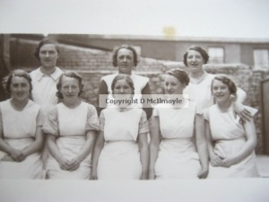 Grandma and the bakery girls, c. 1934