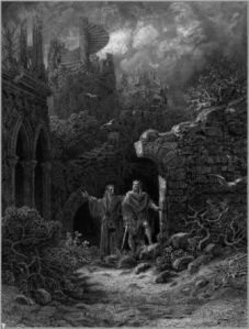 Merlin and Arthur by Gustave Dore