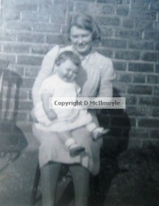 A certain Cumbrian baby with her mum, 1942