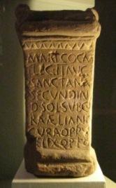 Altar to Cocidius, a native god, at Tullie House Copyright D McIlmoyle